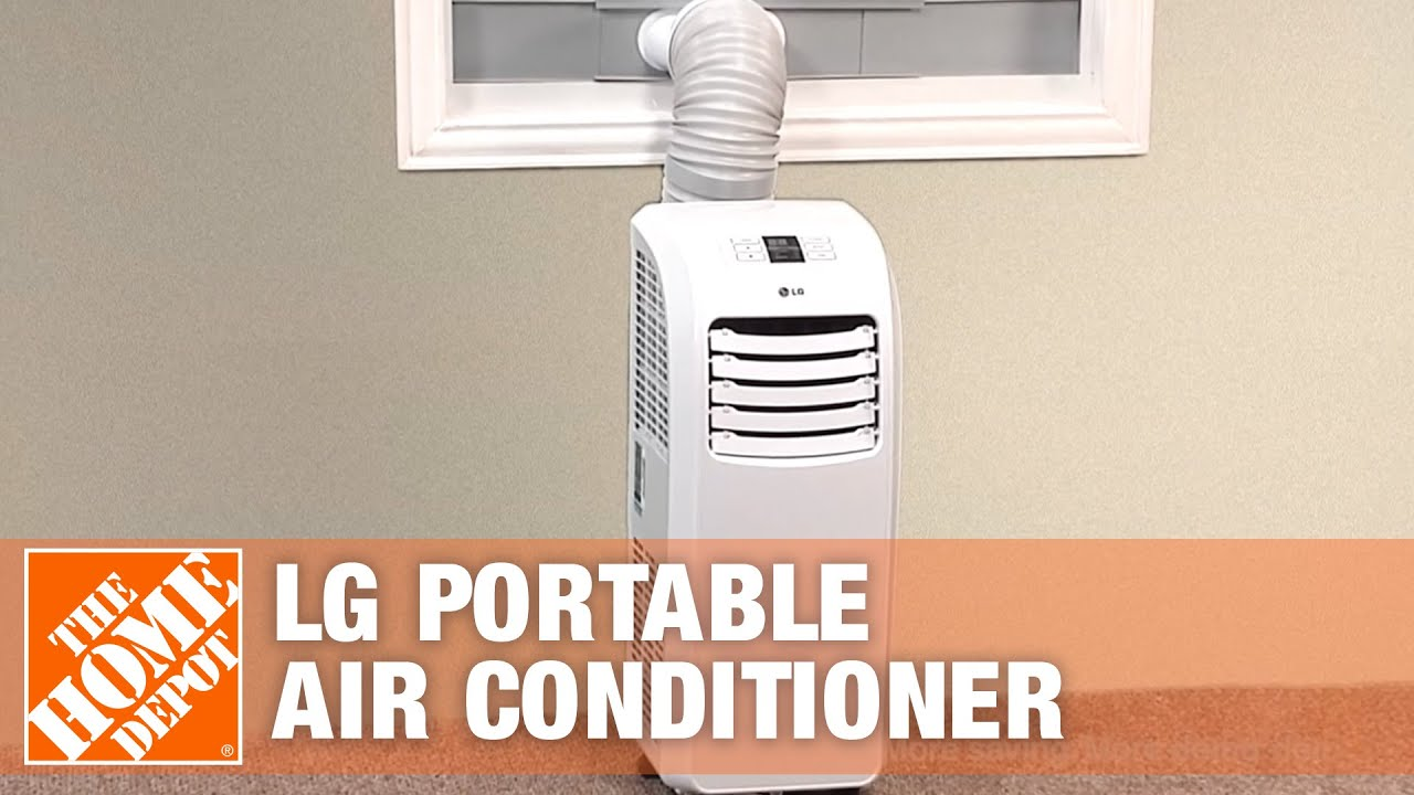 LG 7 000 BTU Portable Air Conditioner The Home Depot   #954036
