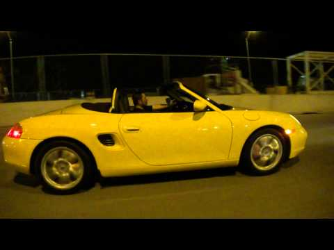 Chef Hiro Terada Cruising in his Porsche to South Beach