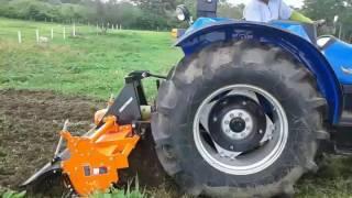 tractor sonalika de 90 HP con rotocultivador SHAKTIMAN de EDUARDOÑO