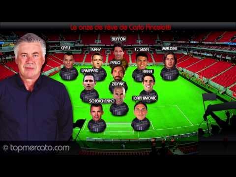 Ibrahimovic, Maldini, Zidane... Le onze de rêve de Carlo Ancelotti !