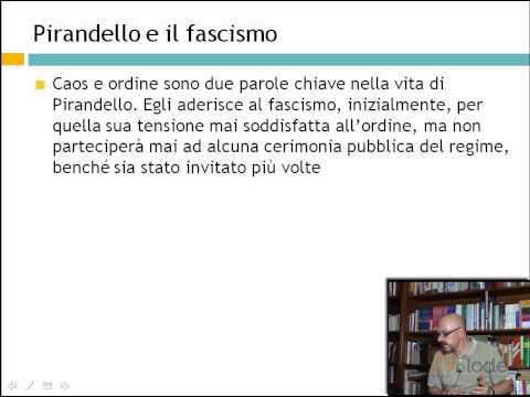 Il caos nella vita di Pirandello - Pirandello e il fascismo - Ripetizioni di letteratura del 900