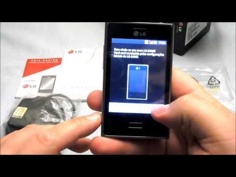 Unboxing LG Optimus L3 E400 em português do Brasil