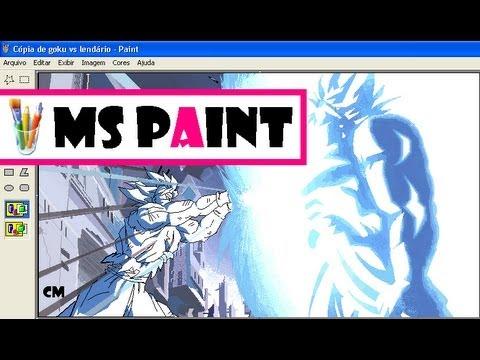 Drawing Goku Vs Broly Kamehameha (dragon Ball) In Ms Paint   Desenhando Goku Vs Broly   Dibujando video