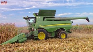 Day in the Life of a John Deere S790 Combine Harvesting Corn