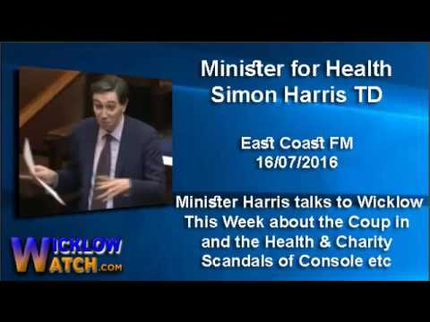 Simon Harris talking about the Turkish Coup and the scandals rocking Health & Charities 16-07-2016
