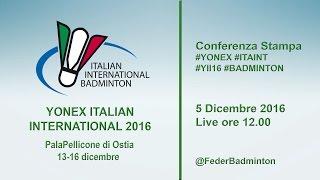 Conferenza Stampa Italian International 2016