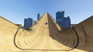 WORLD'S BIGGEST MODDED RAMP! (GTA 5 Mods Funny Moments)