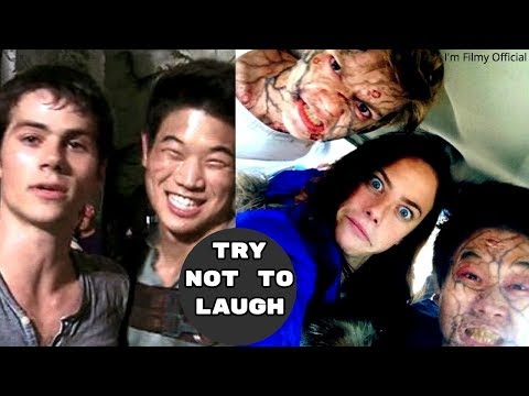 Maze Runner 1&2 Bloopers and Gag Reel - Try Not To Laugh With Dylan O'Brien