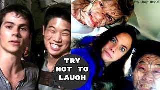 Maze Runner 1&2 Bloopers and Gag Reel - Try Not To Laugh With Dylan O