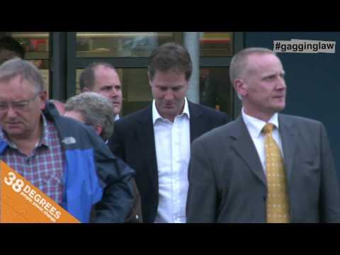 Gagging Law: Nick Clegg Q&A