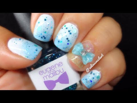 Simple Baby Blue Nail Art