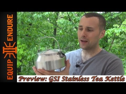 Camp Cook Kit Series, Part 2 GSI Glacier Stainless Kettle 1QT by Equip 2 Endure