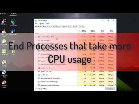 How To Fix High CPU usage on Window 10/ 8/ 7 2018!