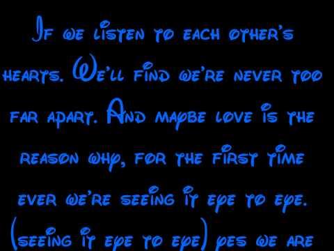 Eye-To-Eye - A Goofy Movie Lyrics HD