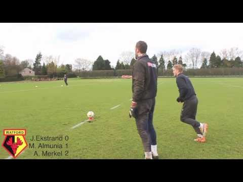RUGBY CHALLENGE: Watford FC's Almunia, Ekstrand and Merkel in conversion shoot-out!