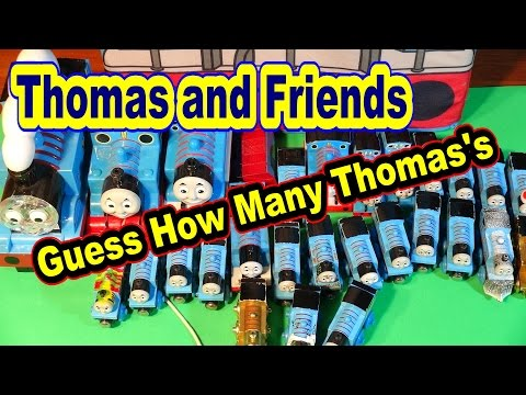 Thomas And Friends Carry Case, Guess How Many Thomas The Trains are in...