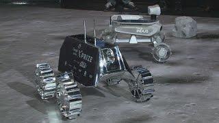 日印チームが月探査車公開