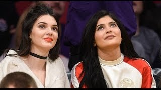 Kendall Kylie Jenner steam courtside Lakers seriously sexy thigh high boots watch basketball
