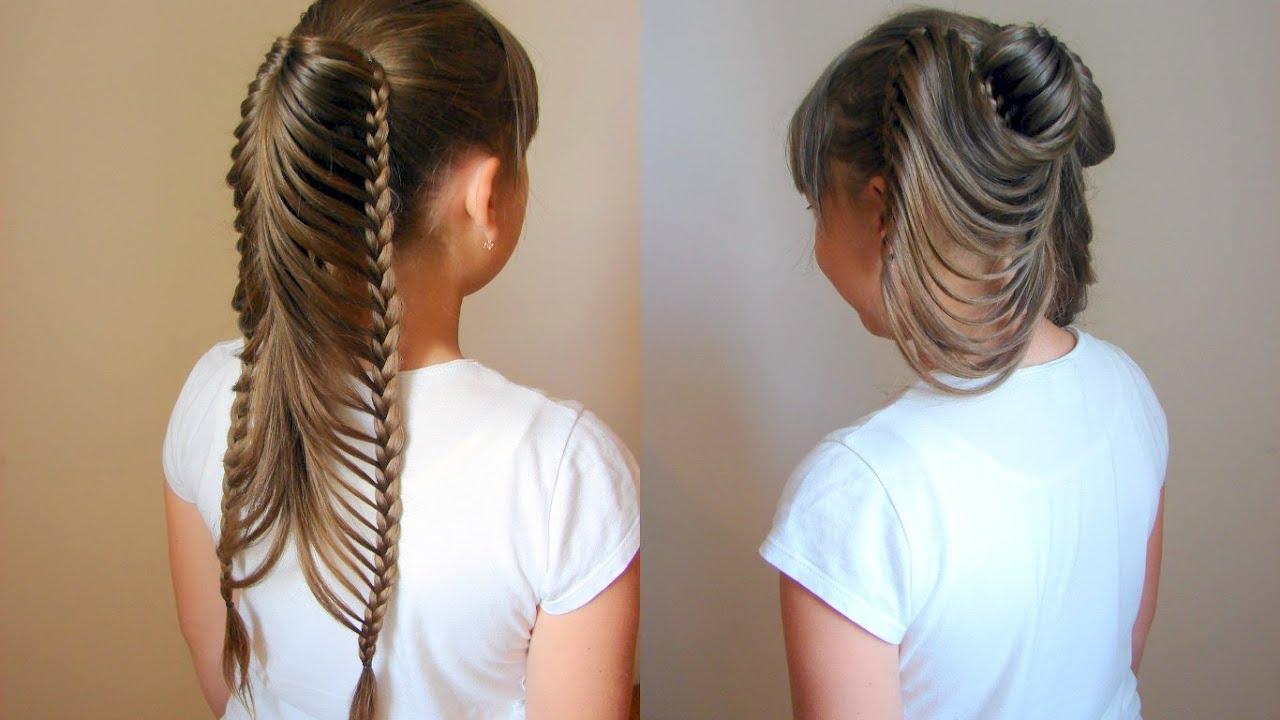 Красивые но легкие прически на длинные волосы косички