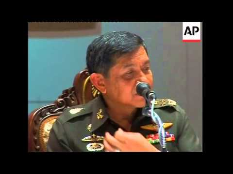 Army coup leader General Sondhi holds news conference, more
