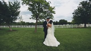 Backyard wedding reception {Oklahoma wedding video}