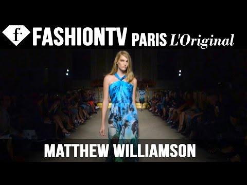 Matthew Williamson Spring summer 2015   London Fashion Week   Fashiontv video