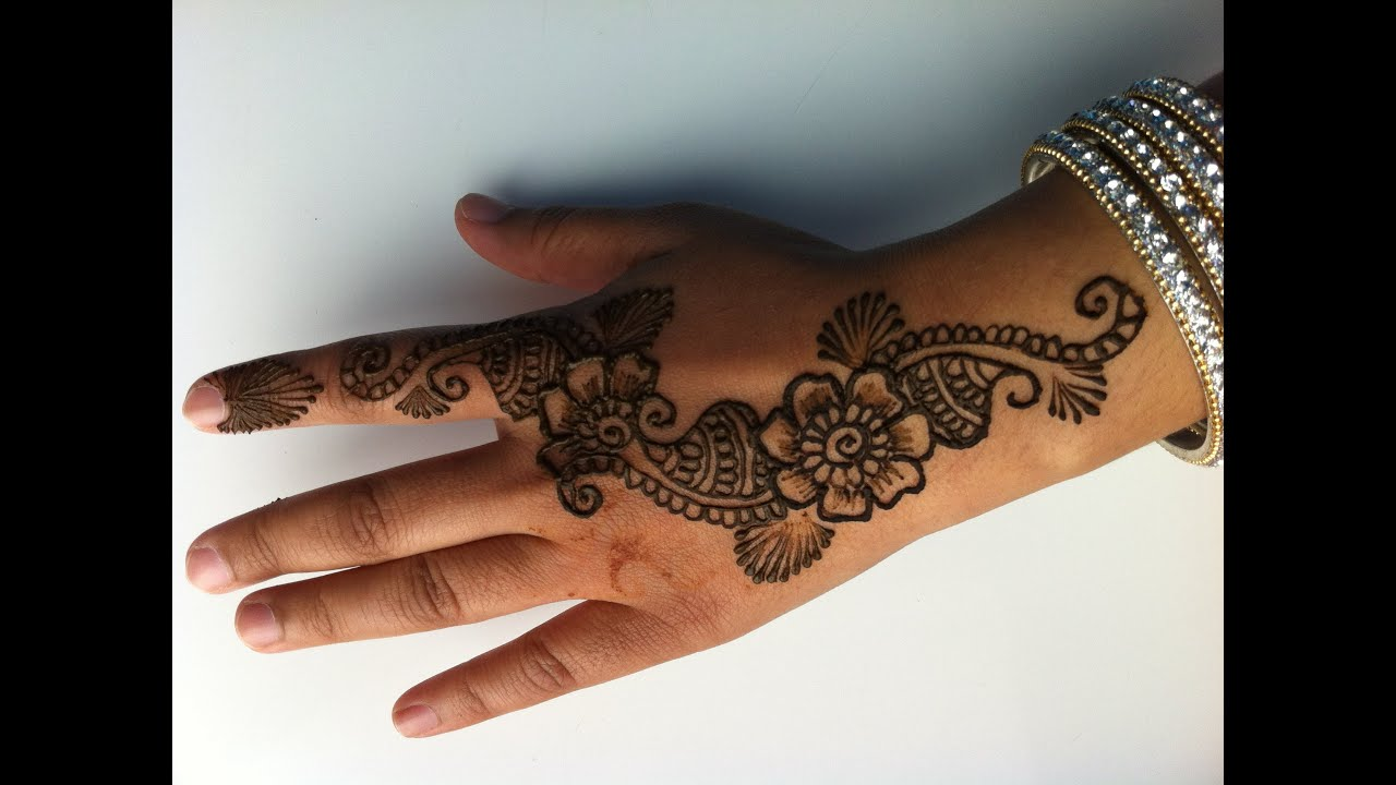 Mehndi Step By Step How To Do It : How to do a simple henna design youtube