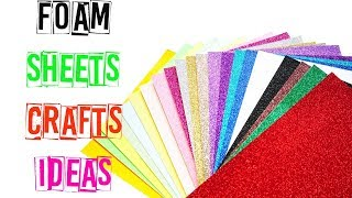DIY Foam Sheet Crafts | How To Make Sparkly Foam Pencil Case