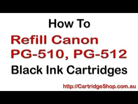 How To Refill Canon PG-510. PG-512 Black Ink Cartridges