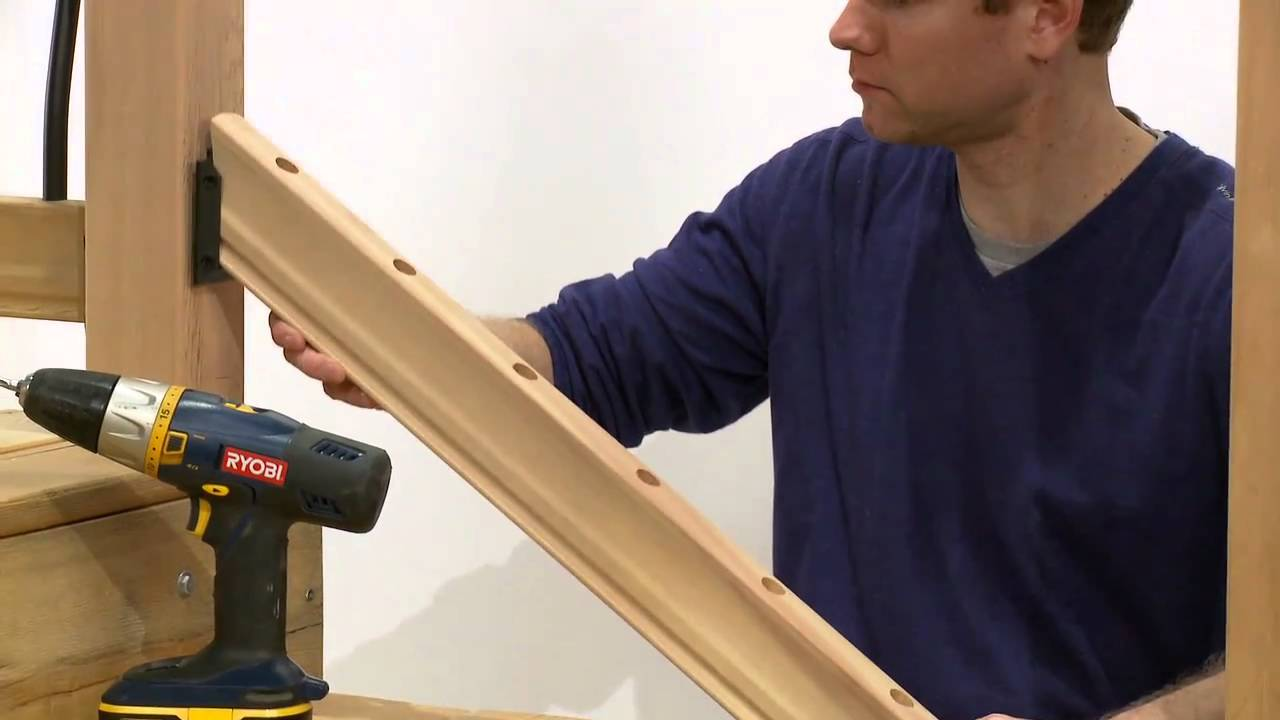 how to install a rail simple tuscany stair railing kit. Black Bedroom Furniture Sets. Home Design Ideas