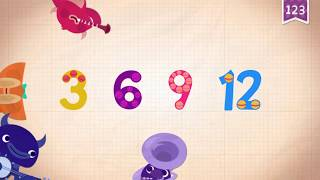 Learn Number Twelve 12 in English & Counting, Math by Endless Alphabet   Kids Educational Video
