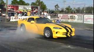 Heffner Twin Turbo Viper Runs An 8.57 @ 170MPH On Low Boost
