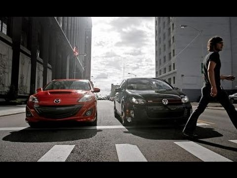 2010 Volkswagen GTI vs. Mazdaspeed 3 - CAR and DRIVER
