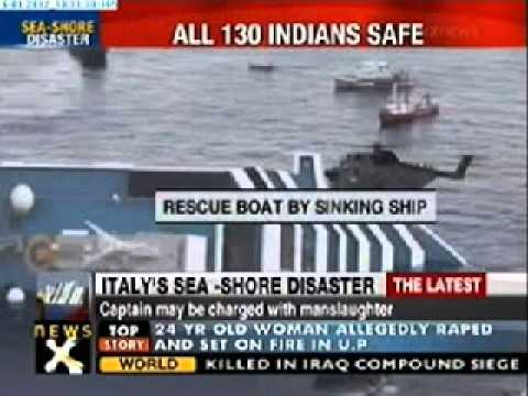 Italy cruise liner tragedy: 130 Indians rescued