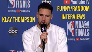 Klay Thompson Funny/Random Interviews