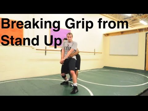 Breaking Grip When Doing Stand Up Escape: Basic Bottom Wrestling Moves and Technique For Beginners Image 1