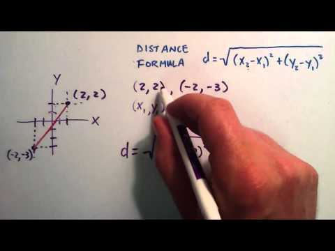 How to Find the Distance Between Two Points - How to Use the Distance Formula
