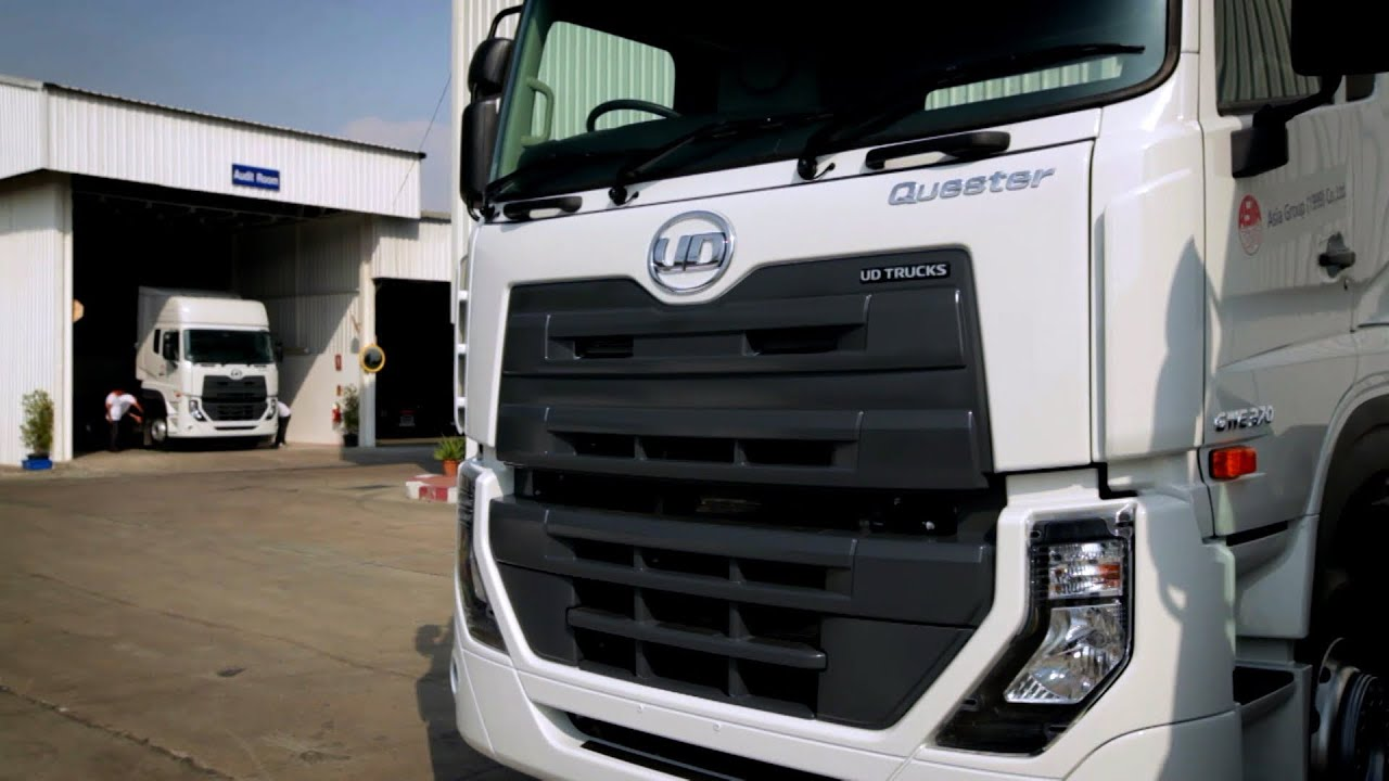 Ud Trucks Delivering The World S First Quester Youtube