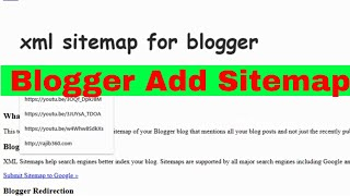 How To Add Blogger Sitemap submit bangla 2019