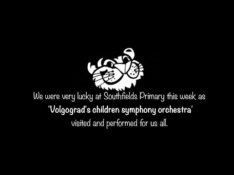'Volgograd's children symphony orchestra' performing at Southfields