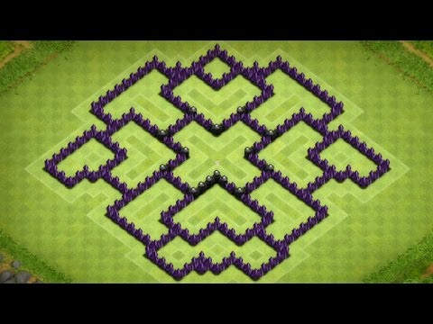 Clash Of Clans - Town Hall 8 Farming Base (The Hexit) Speed Build - 2014