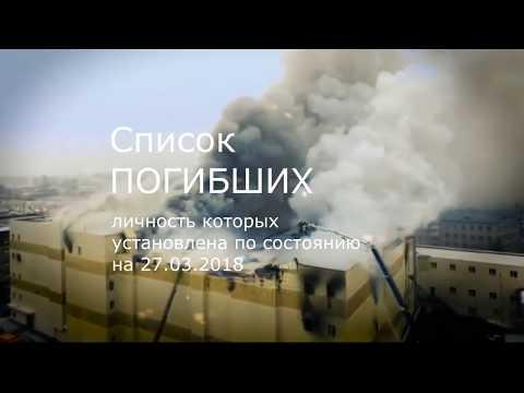 Список погибших и пропавших без вести зимняя вишня Кемерово. И не война, но матери в слезах!
