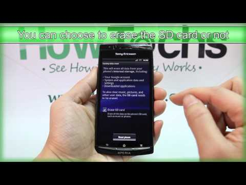 How to Master Reset Sony Ericsson Xperia arc