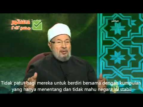 WAJAH SEBENAR ANWAR IBRAHIM DI BELAKANG DR YUSUF QARADAWI!!!