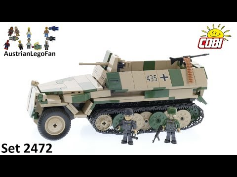 COBI Small Army WWII 2472 Sd.Kfz.251/10 Ausf.C Halftrack Command Vehicle - Cobi Speed Build Review