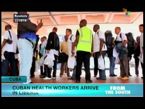 51 Cuban healthcare workers arrived in Liberia today