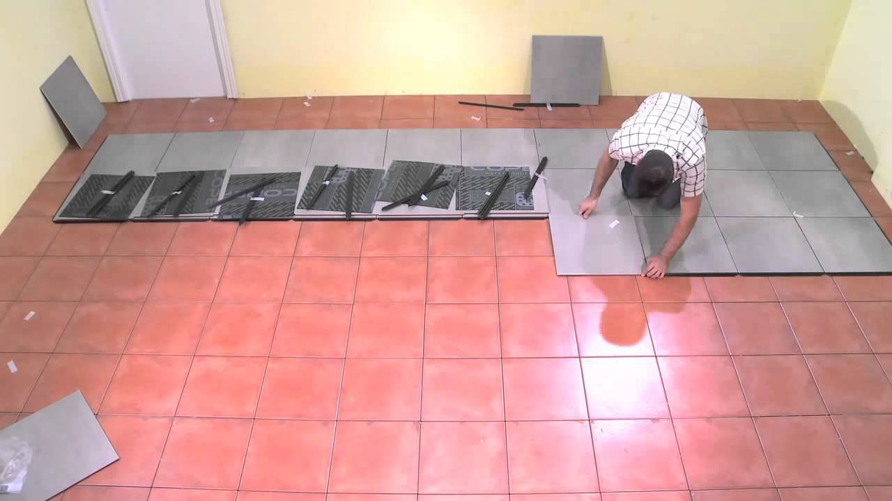 Syst me de pose de carrelage sans travaux youtube - Castorama carrelage interieur ...