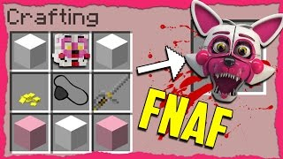 Minecraft FNAF - How to Summon FUNTIME FOXY in a Crafting Table!