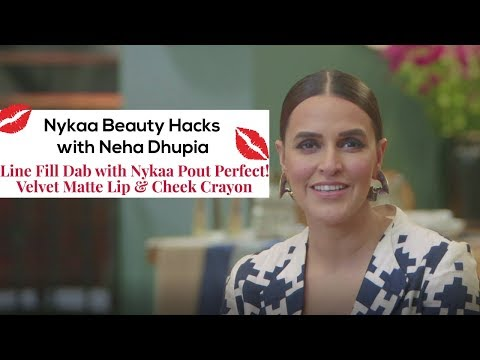 Nykaa Beauty Hacks with Neha Dhupia  - Line Fill Dab