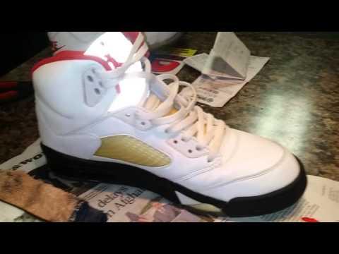 '99 Jordan Fire Red 5 sole swap